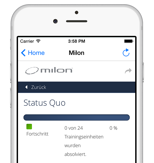 Milon Care integration in myFitApp