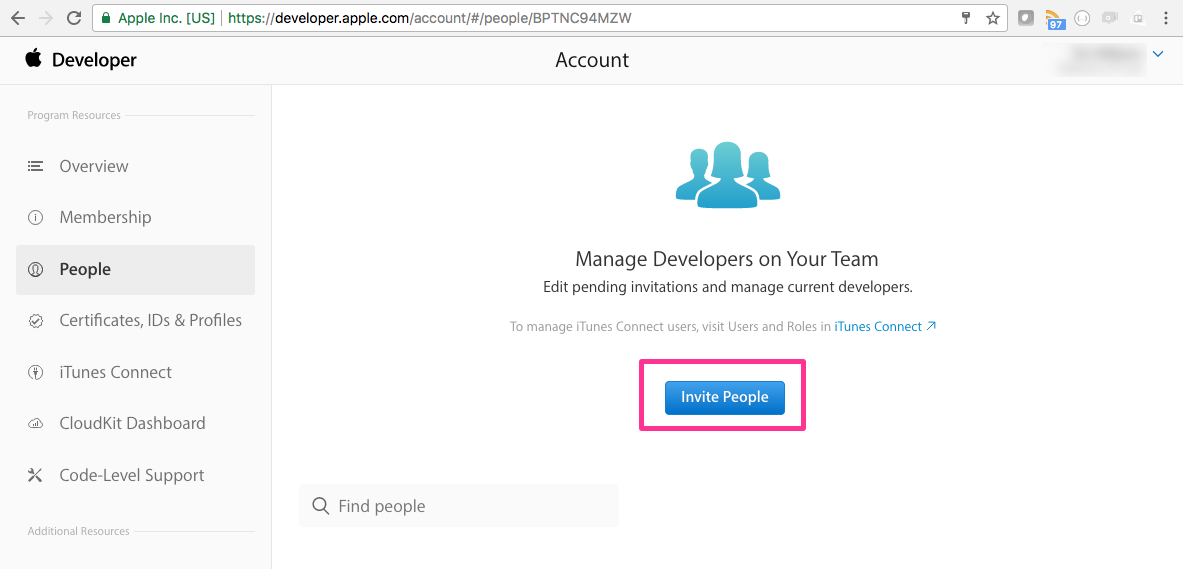 Blank page - Set up an Apple Developer Account - myFitApp