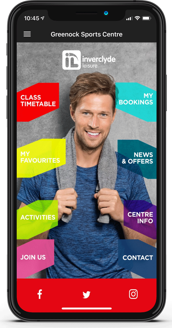 inverclyde leisure Homescreen