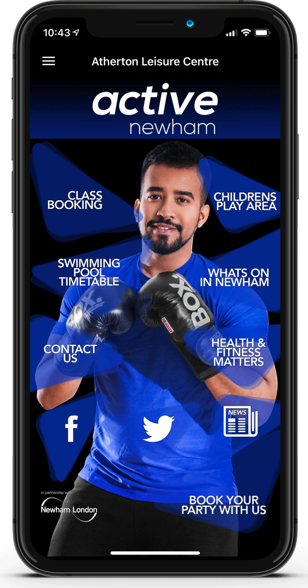 active Newham Homescreen