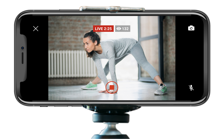 myFitApp@home Trainers can live stream directly from branded member app