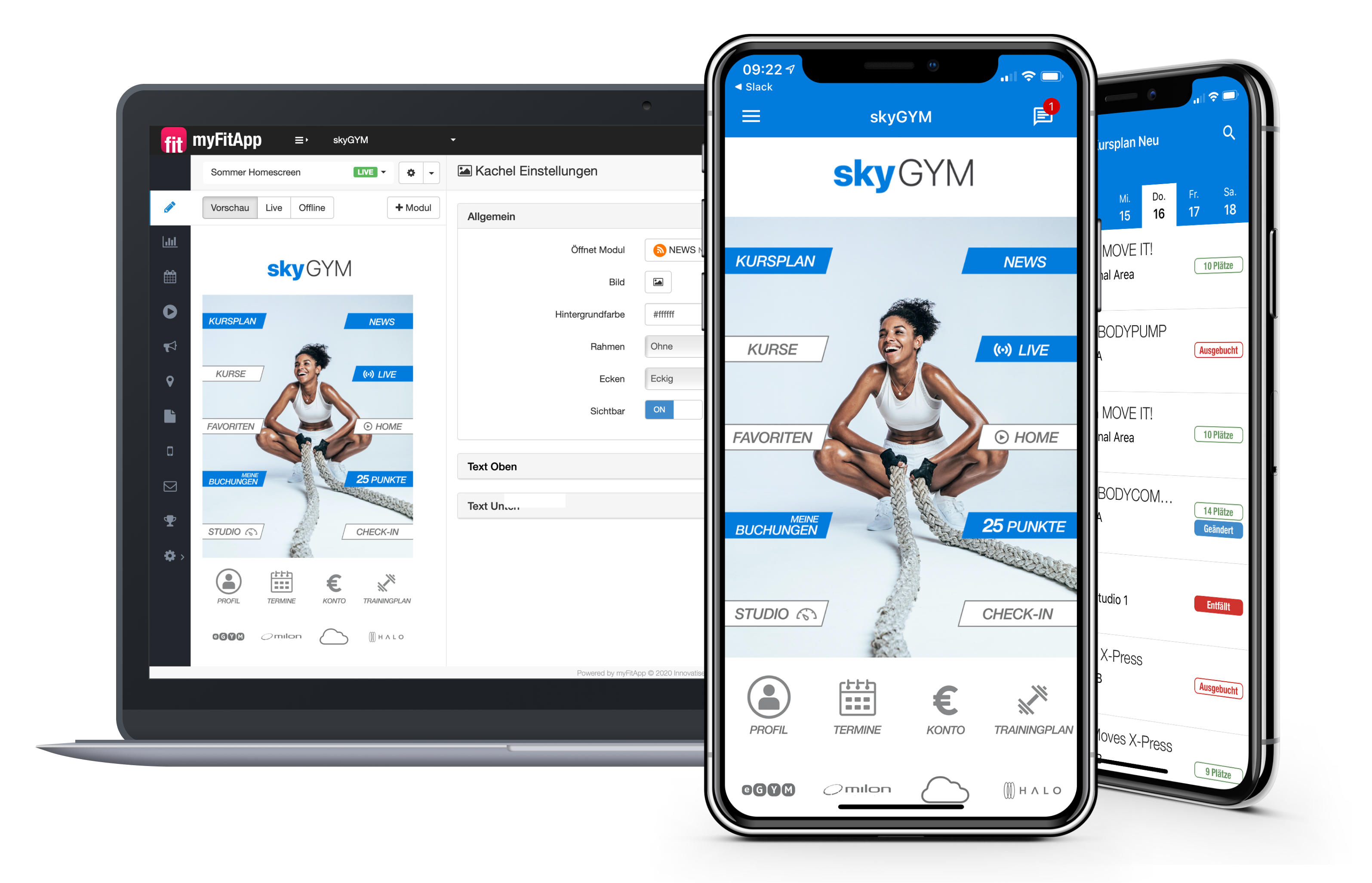 myFitApp Branded app and Content