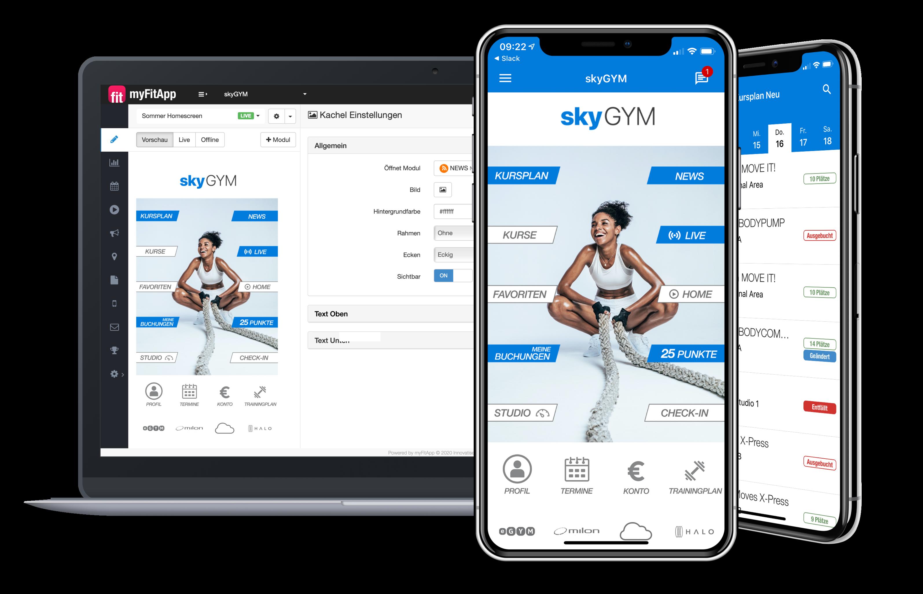 myFitApp Branded Member App - App Designer