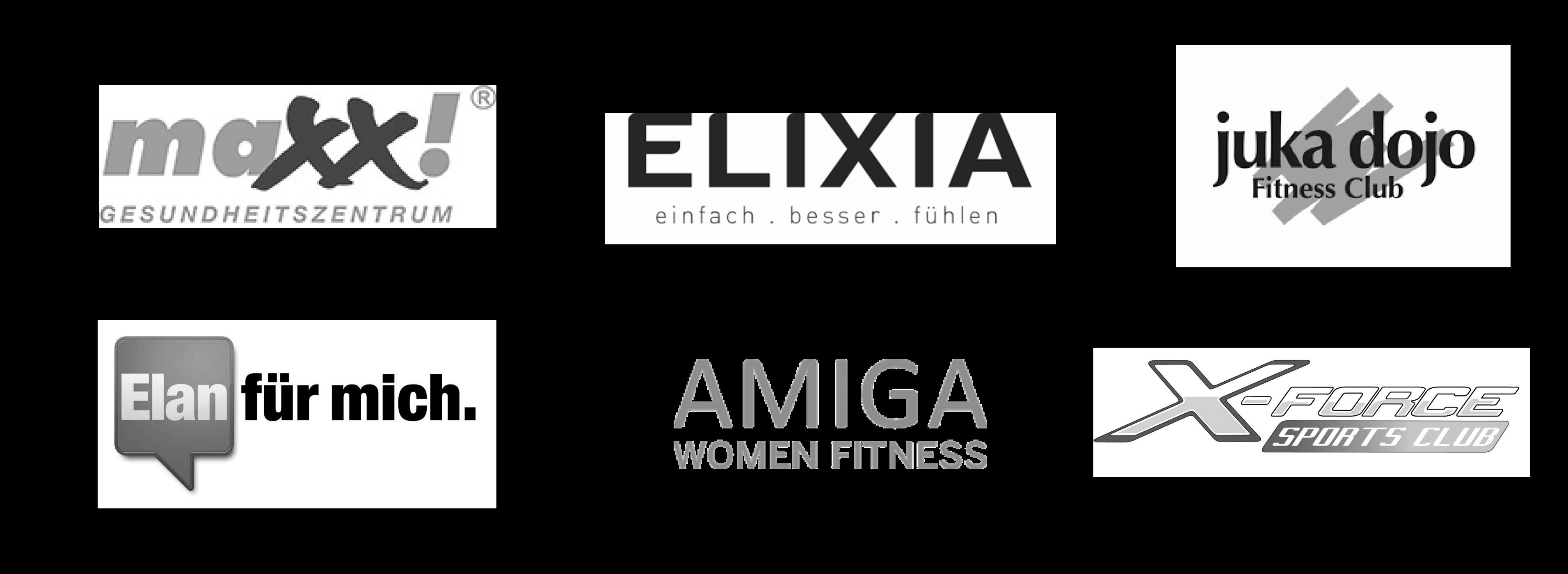 myFitApp Branded Member App Kunden maxx!, ELIXIA, juka dojo, ELAN für mich, Amiga, x-Force Sports Club