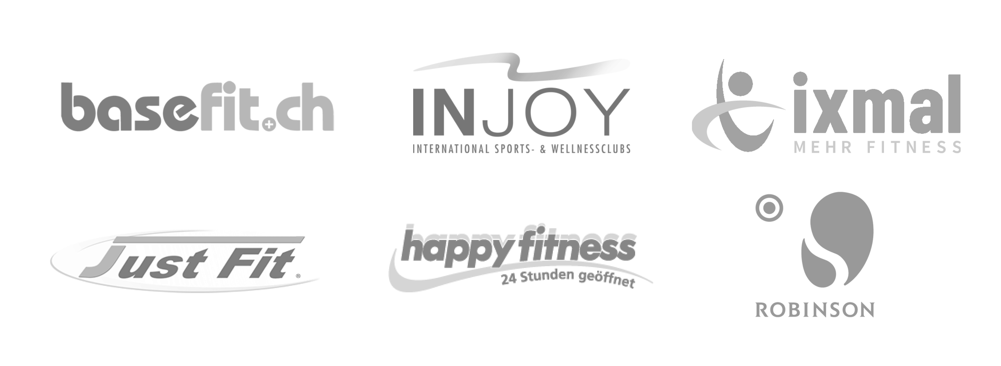 myFitApp Kunden basefit, Injoy, ixmal, Just Fit, Happy Fitness, Robinson