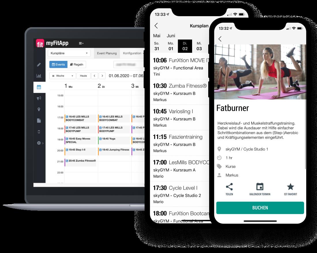 myFitApp Class Booking App