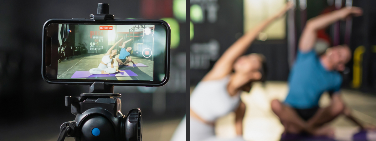 Hybrid Classes Stream from home or train in gym yoga training