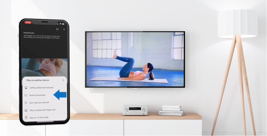 Stream on TV at home Wexer Video Content