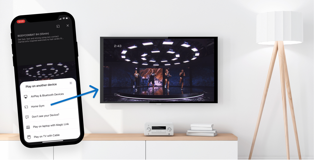 Stream on TV at home LesMills Video Content Bodycombat