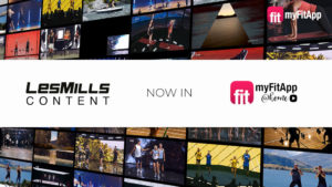 LESMILLS Content in myFitApp@home on-demand video at home