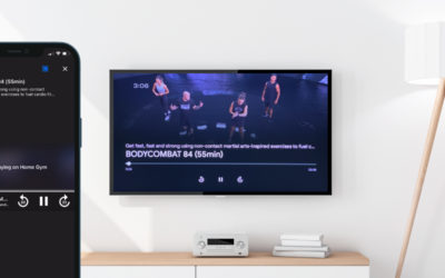 The perfect training experience on your TV with Chromecast and Airplay