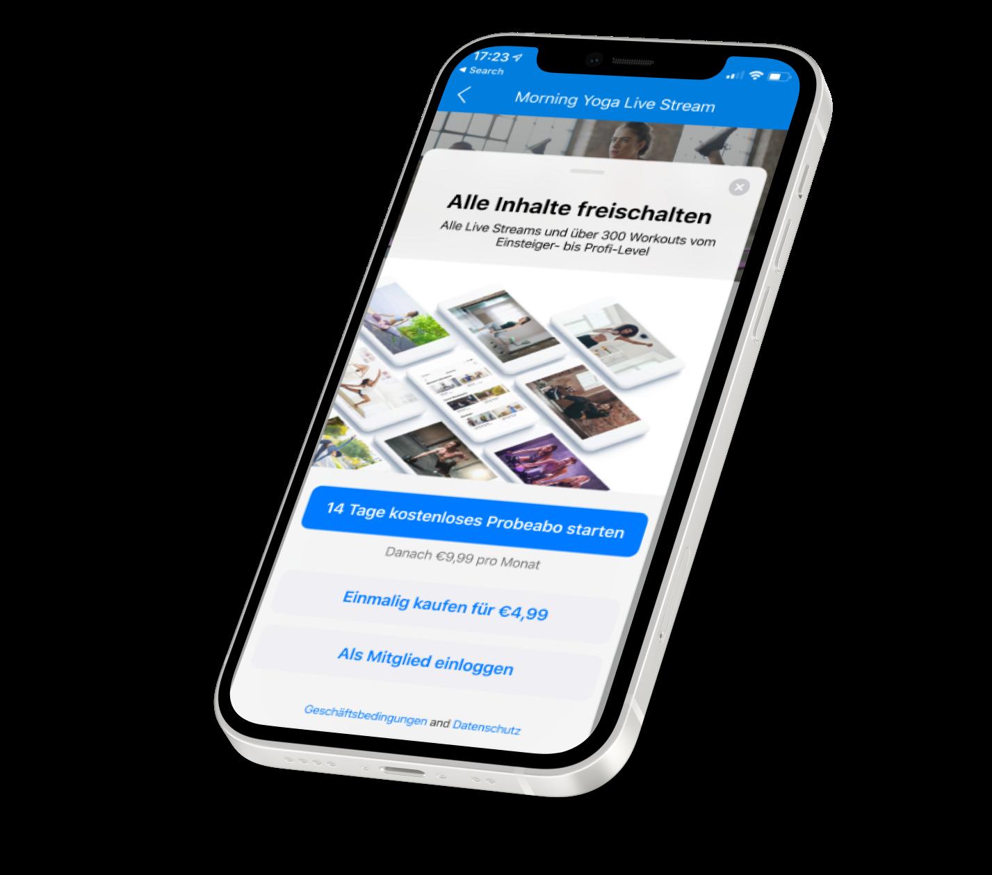 Paywall In-App Käufe In-App Purchase