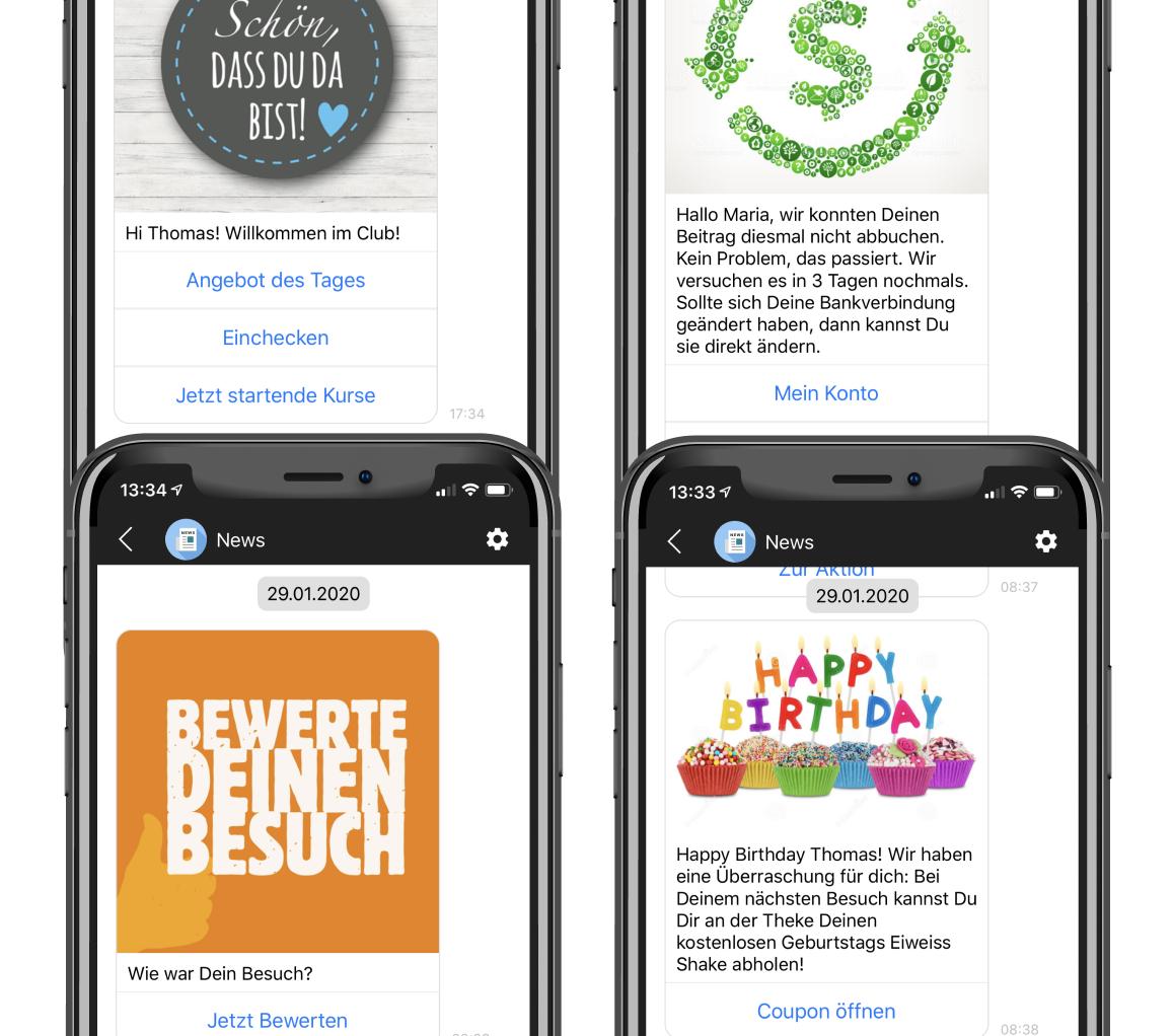 Personalisierte Nachrichten personalised messages