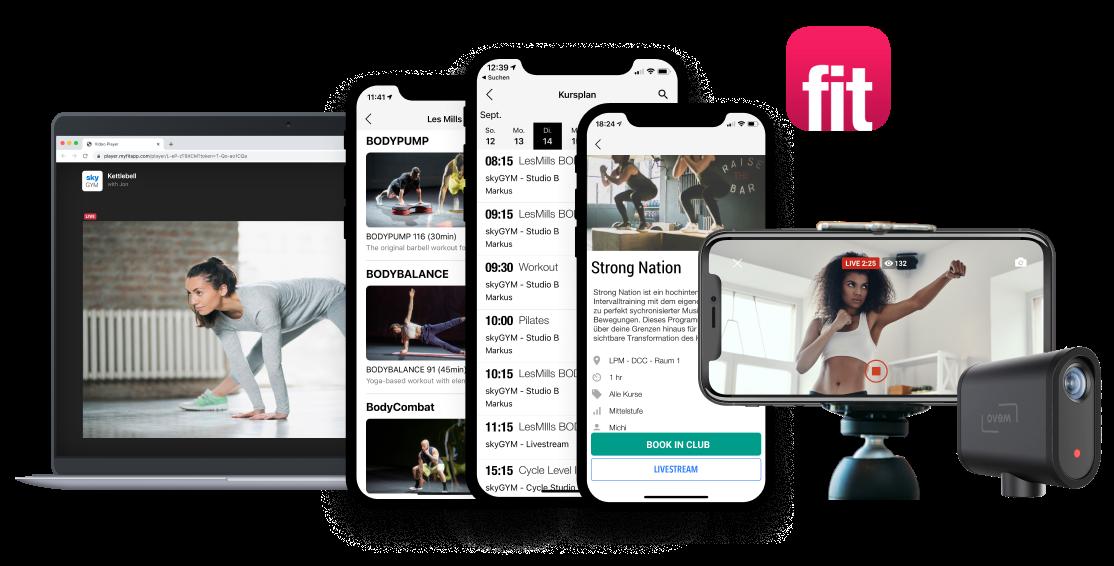 myFitApp@home Video Streaming Plattform @home