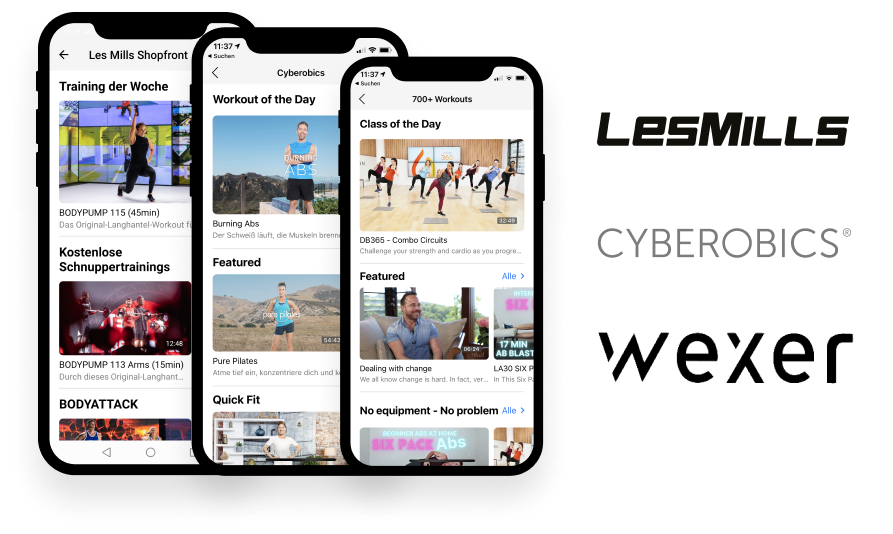 Content Marketplace Partnerintegration:en Wexer Les Mills Cyberobics