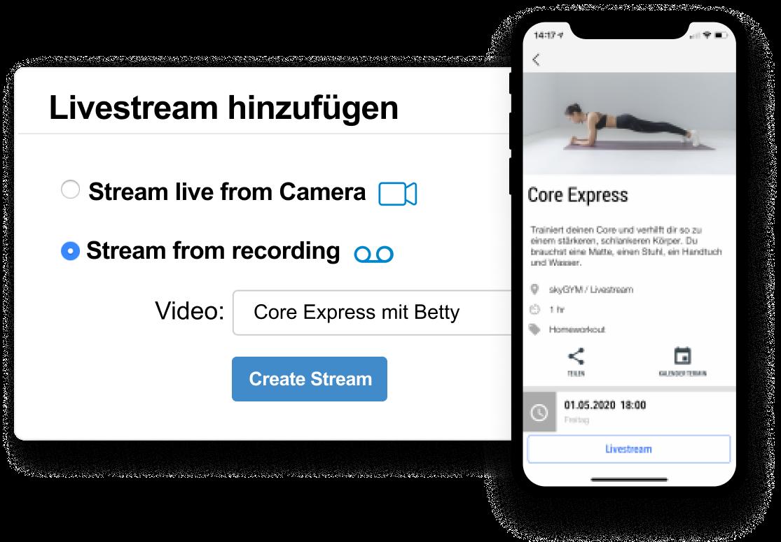 re-stream livestreams DE
