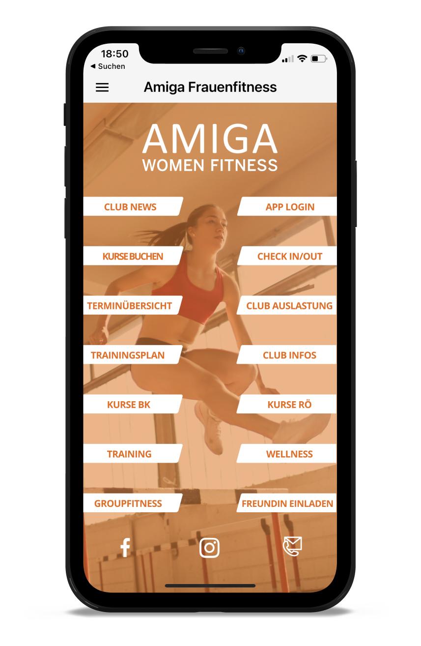 AMIGA Homescreen Kunden myFitApp
