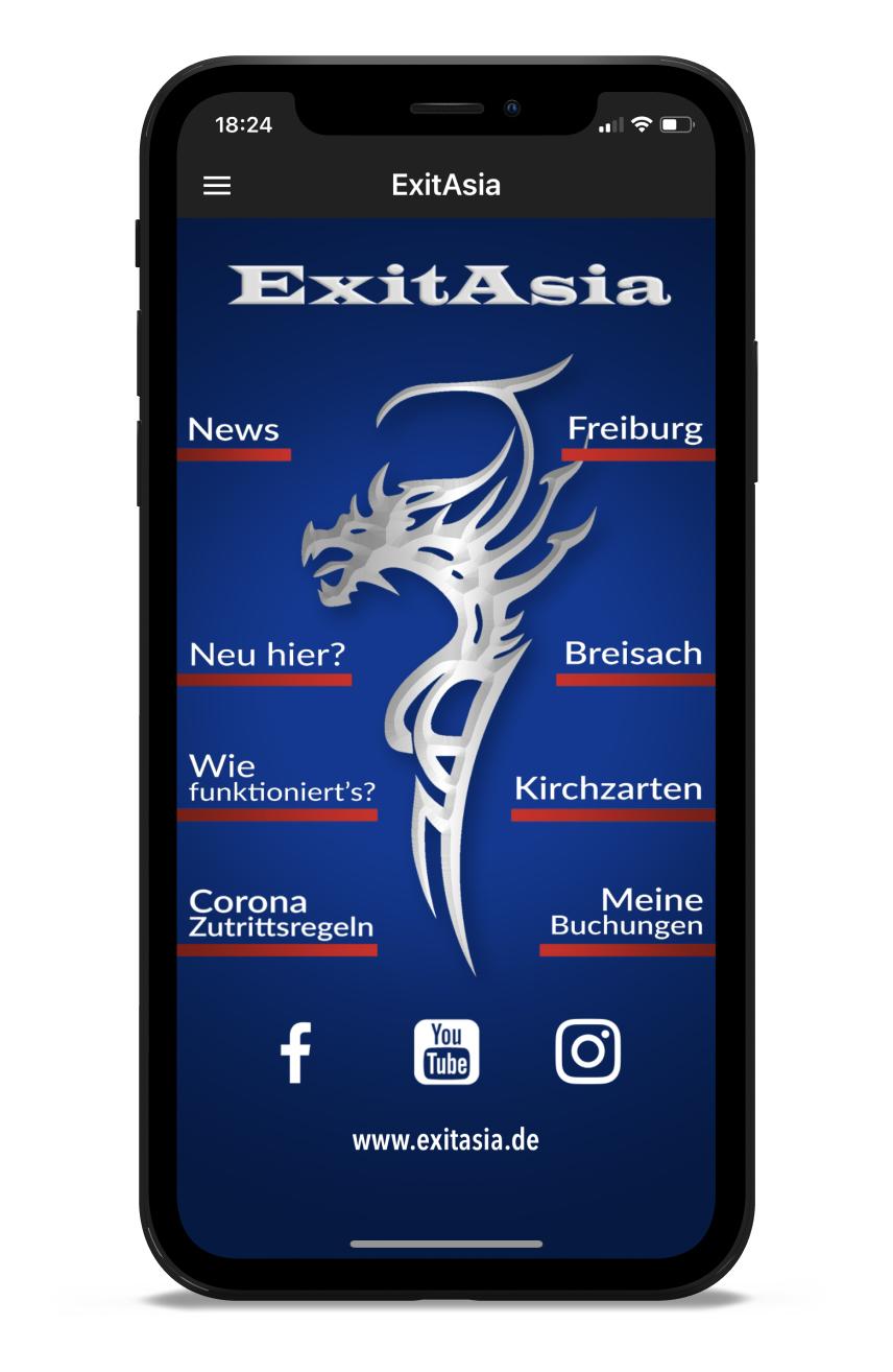 Exit Asia Homescreen Kunden myFitApp
