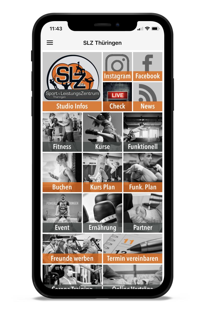 SLZ Homescreen Kunden myFitApp