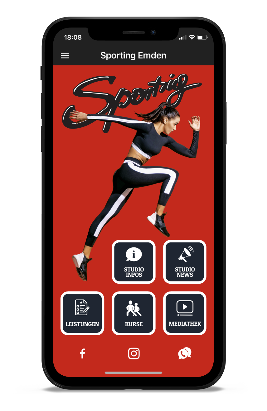 Sporting Emden Homescreen Kunden myFitApp
