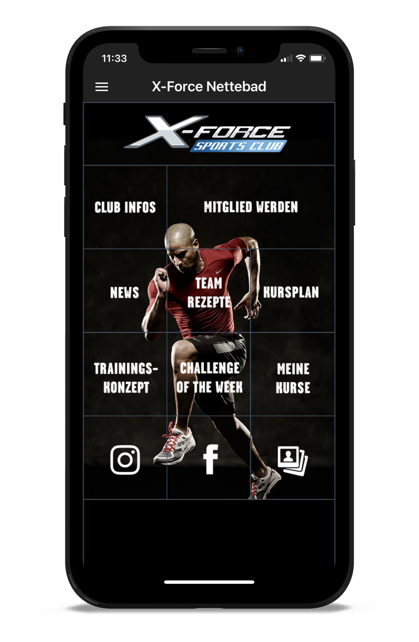 X-Force Homescreen Kunden myFitApp