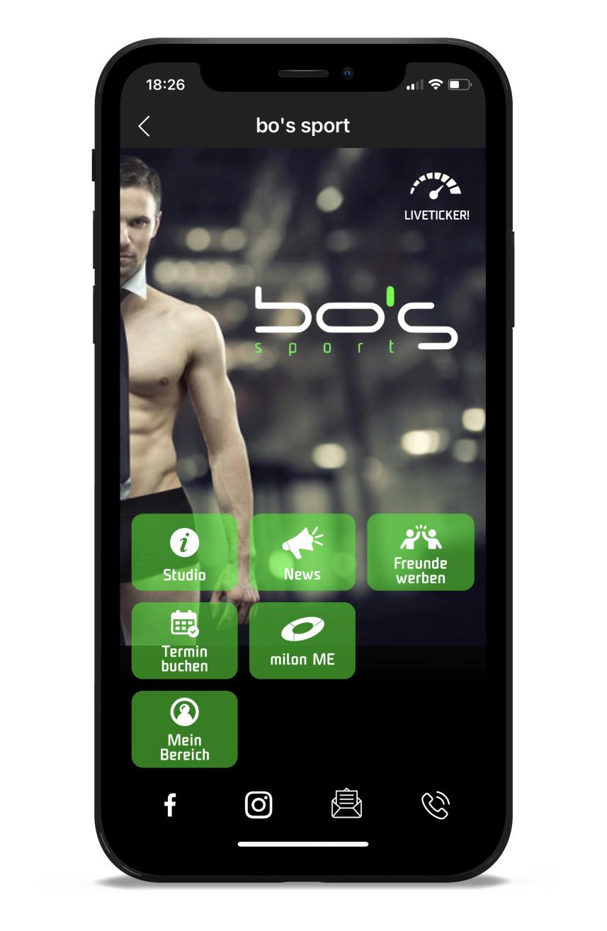 bo's Homescreen Kunden myFitApp