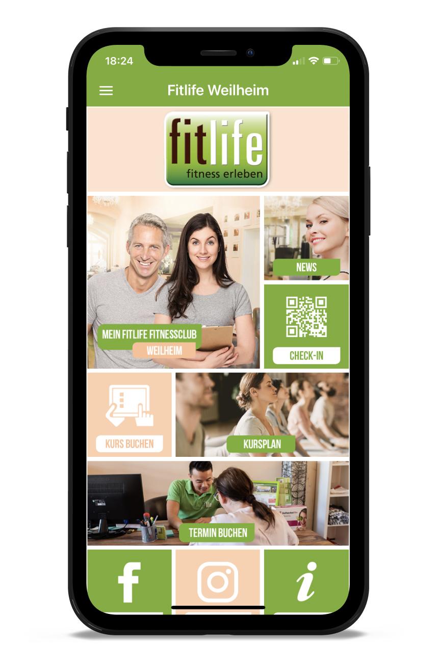 elbfitness Homescreen Kunden myFitApp
