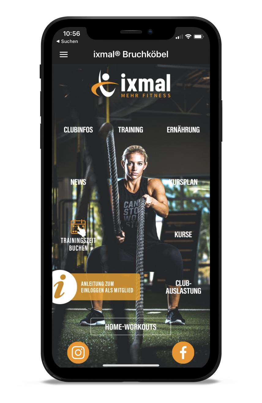 ixmal Homescreen Kunden myFitApp