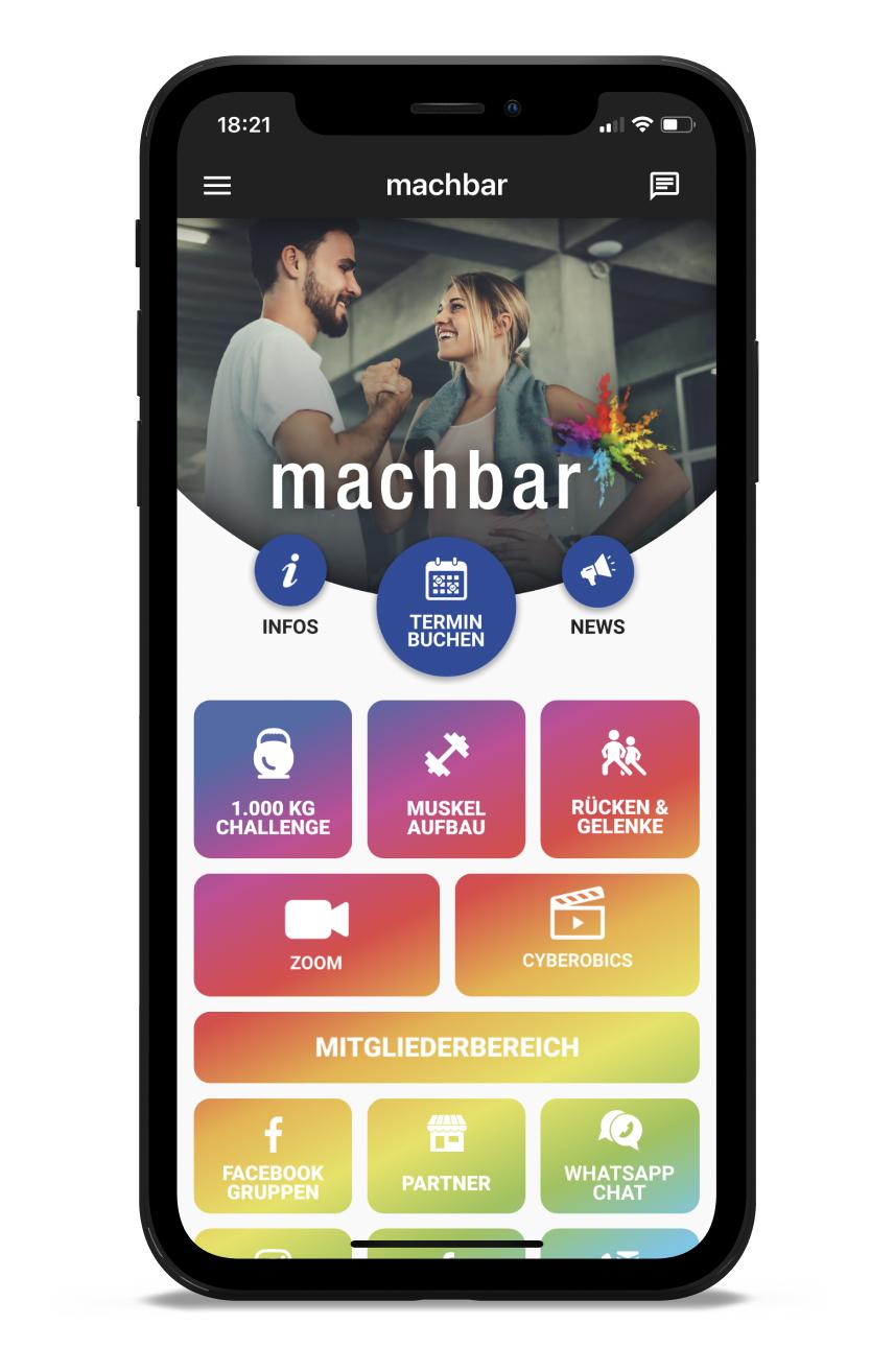 machbar Homescreen Kunden myFitApp