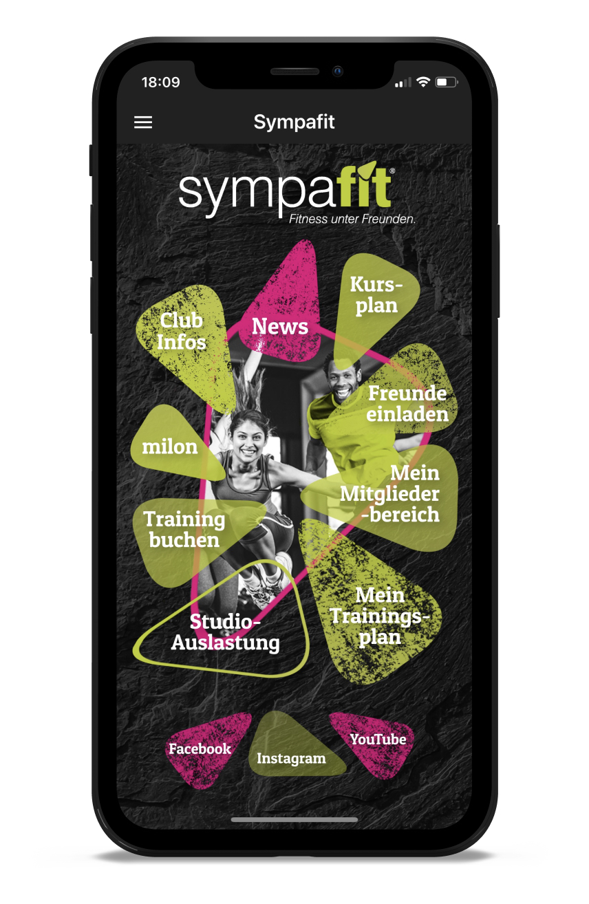 sympafit Homescreen Kunden myFitApp